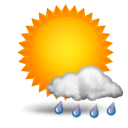 Weather forecast for today: partly rain