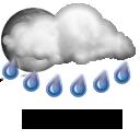 partly heavy rain
